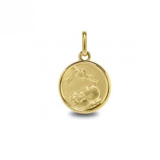 Medalla de bautizo en oro 14k (1260468)