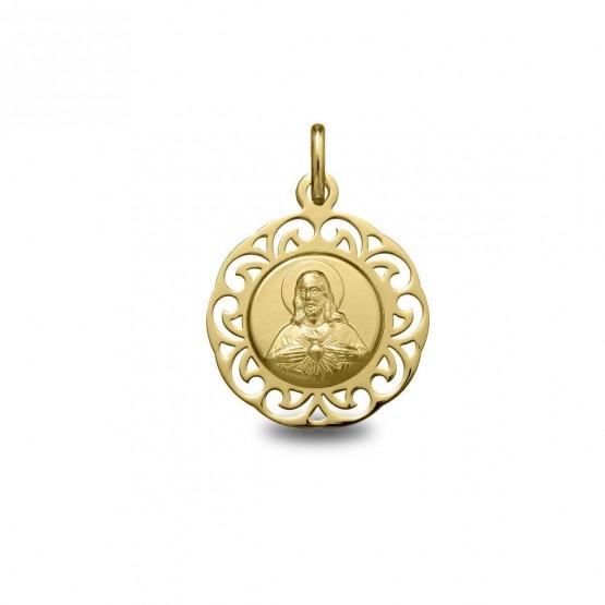 Medalla de oro Sagrado Corazón de Jesús (1877278)