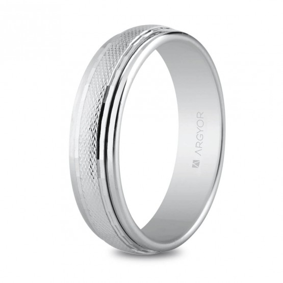 Argolla de matrimonio de plata 5mm facetado (5750133)