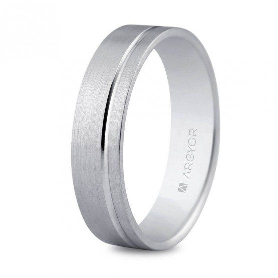 Argolla de matrimonio en plata 5mm interior confort (5750316)