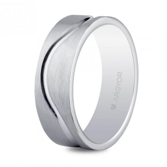 165a0bfffe06 Anillo de matrimonio en plata facetada mate-brillo 6.5mm (5765054N)