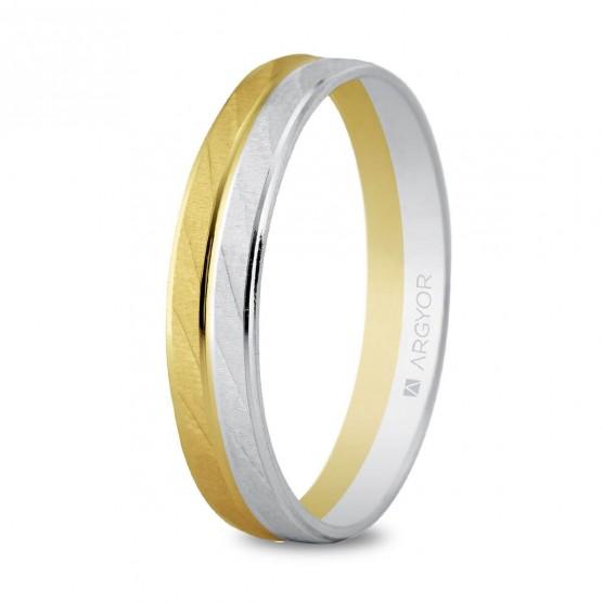 Argolla de matrimonio de oro bicolor (5240426)