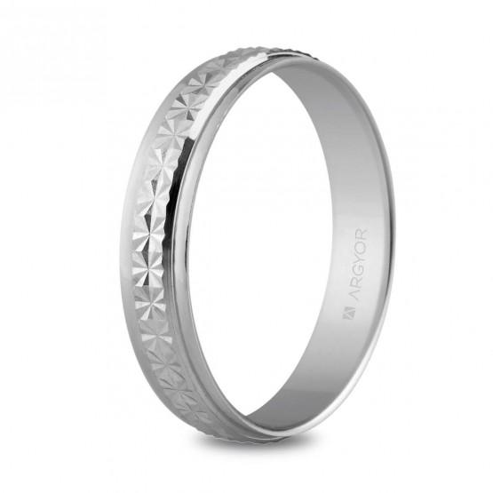 Argolla matrimonial facetada con efecto diamantado (5740108)