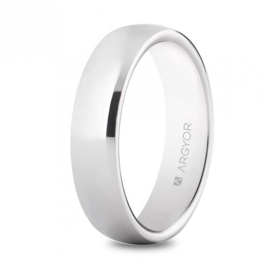 Anillo de boda en plata 5mm media caña (5750032)