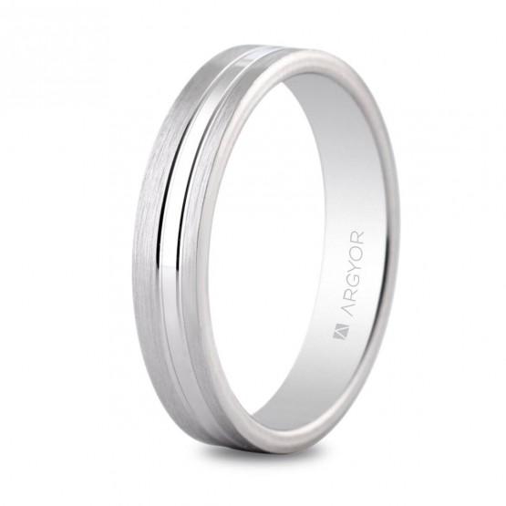 Argolla matrimonial de plata 3 bandas mate/brillo (5740341)