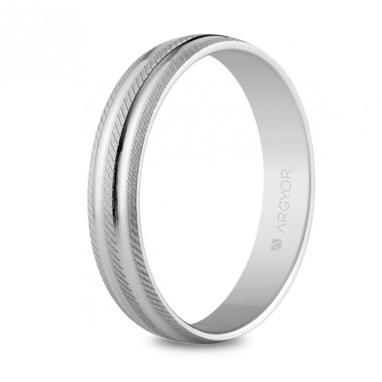 Anillo de bodas de plata 4mm facetada (5740037)