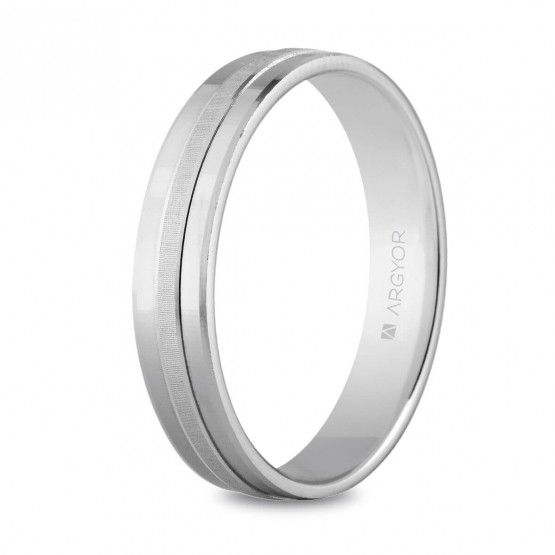Argolla de matrimonio de plata 4mm plana confort (5740255)