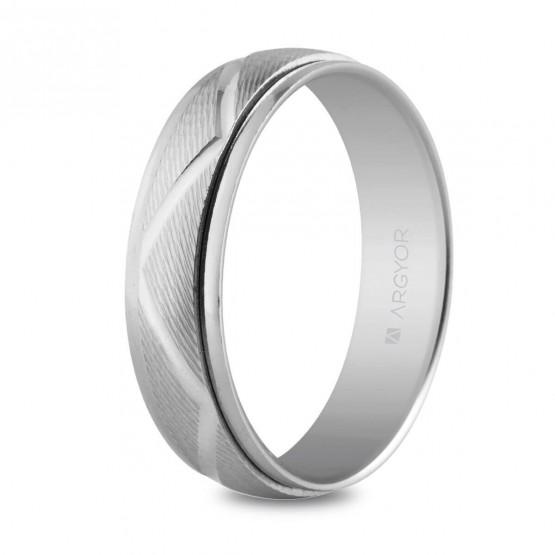 Anillo de bodas en plata 5mm diseño zig-zag (5750138)