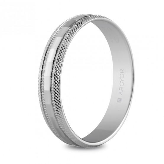 Anillo de bodas en plata 4mm facetada (5740115)
