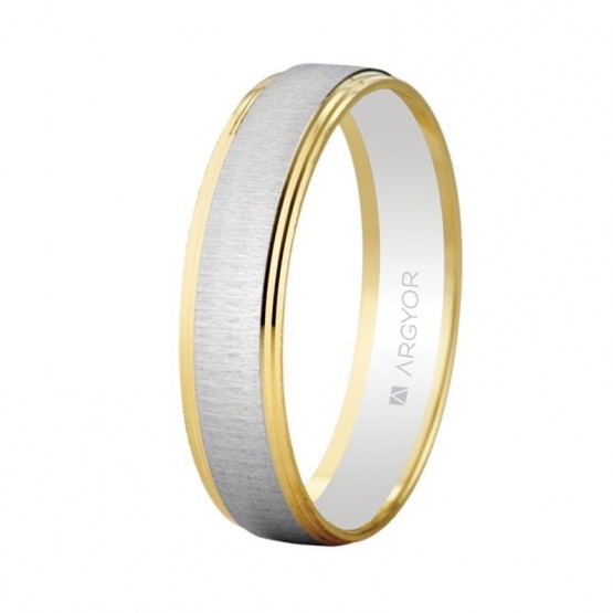Argolla de matrimonio de oro bicolor (5245466)