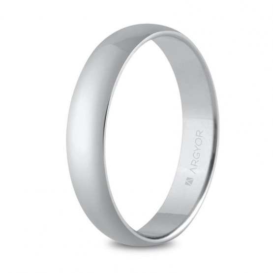 Argolla matrimonial clásica de plata 4 mm (5740001)