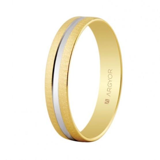 Anillo de boda de oro bicolor (5241474R)
