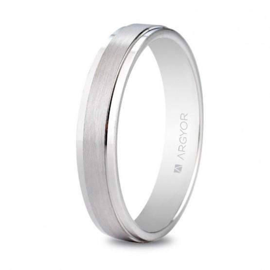 Argolla de matrimonio de plata plana mate/brillo (5740397)