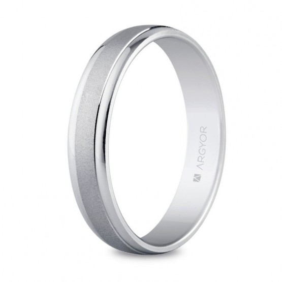 Argolla de matrimonio en plata con acabado mate-brillo (5740044)