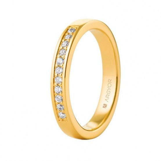 Anillo de compromiso de oro y diamantes (74A0050)