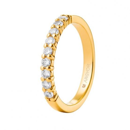 Anillo de boda con diamantes (74A0058)