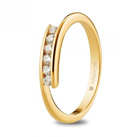 Anillo compromiso de oro y brillantes (074A0100)