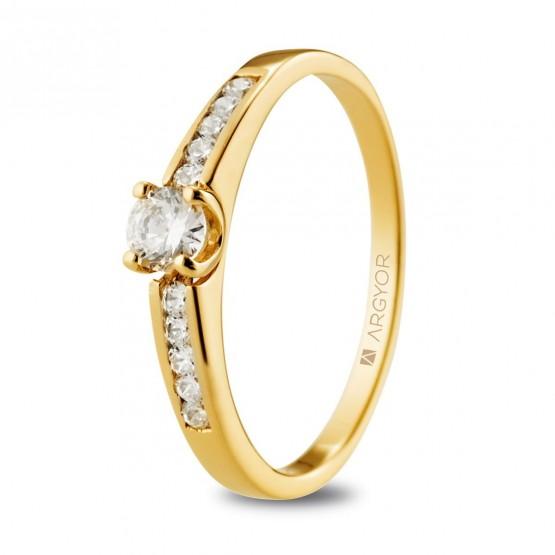 Anillo compromiso de oro y brillantes (074A0102)