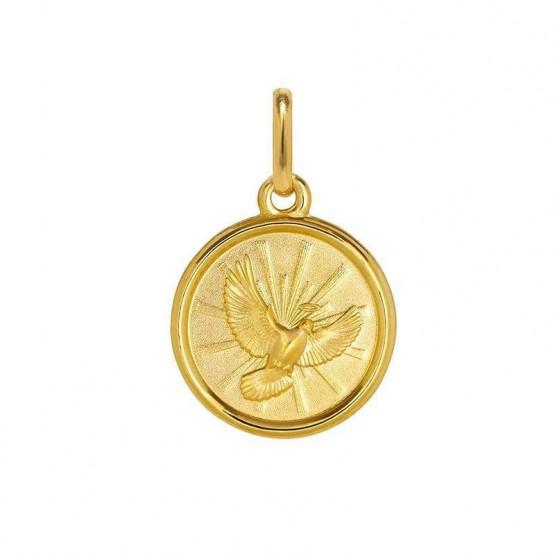 Medalla de plata chapeada en oro con la imagen del Espíritu Santo (1260476D)
