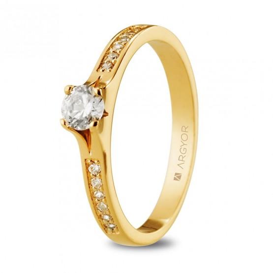 Anillo compromiso de oro 14k (074A0106)