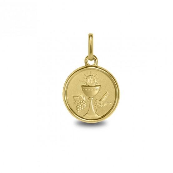 Medalla para comunión de oro 14k con Cáliz (1260469)