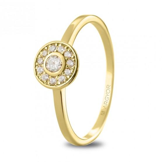Anillo compromiso de oro 14k (074A0088)