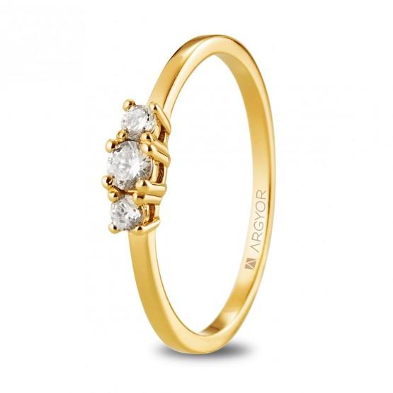 Anillo compromiso de oro y brillantes (074A0083)
