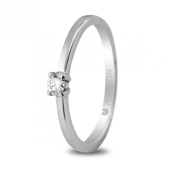 Anillo de compromiso oro y diamante 0.10 ct (74B0004)