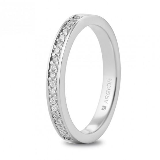 Anillo de compromiso de oro y diamantes (74A0054)