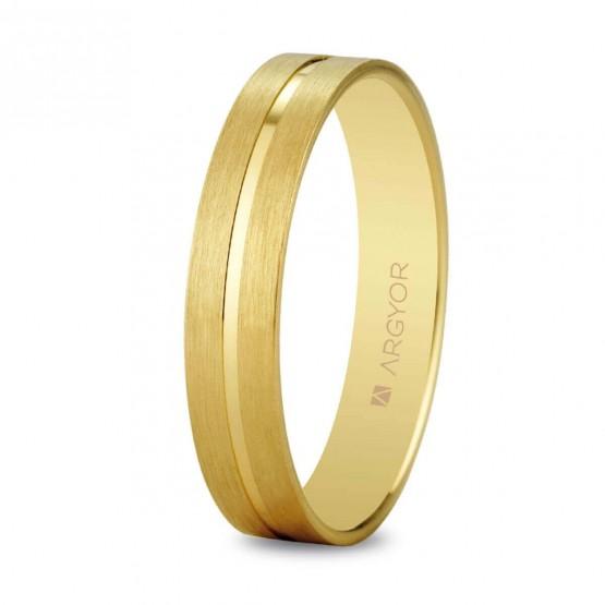 Anillo de boda de oro satinado (5140494)