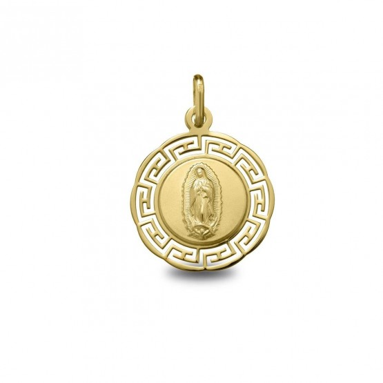 Medalla de oro calada Virgen Guadalupe (1871255)