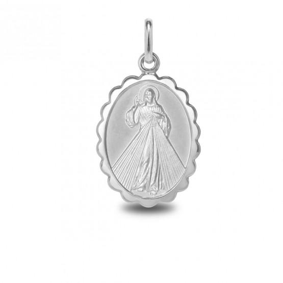 Medalla en plata del Cristo de la Divina Misericordia (1007477)