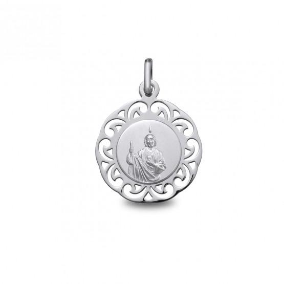 Medalla De Plata San Judas Tadeo 1877341 Argyor Mx
