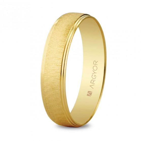Argolla matrimonial de oro texturizado (5145466)