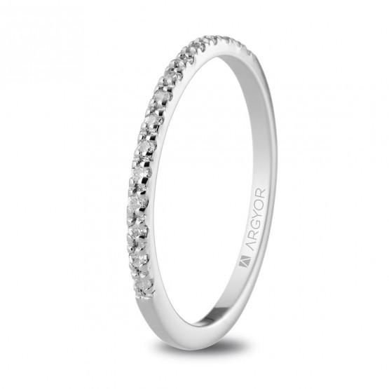 Churumbela de oro blanco y diamantes (074B0070)