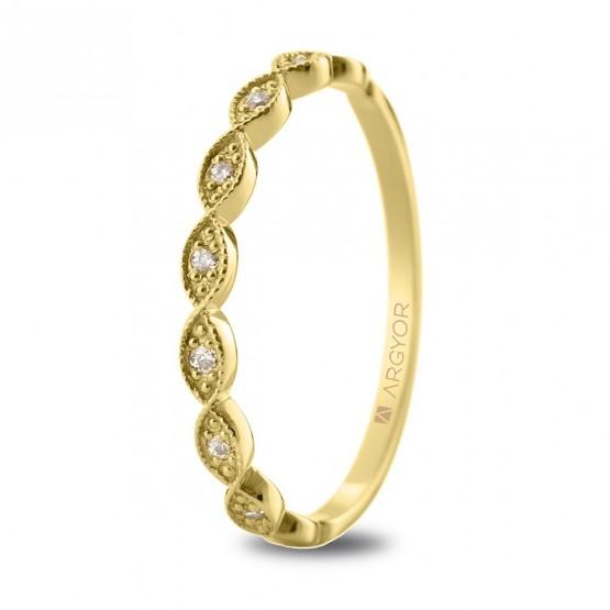 Anillo de oro y diamantes 0.07ct (074A0071)
