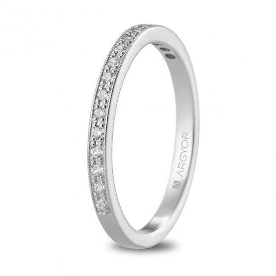 Churumbela de oro blanco y diamantes (074B0077)