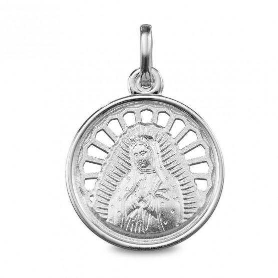 Medalla de plata calada Virgen de Guadalupe (1280242)