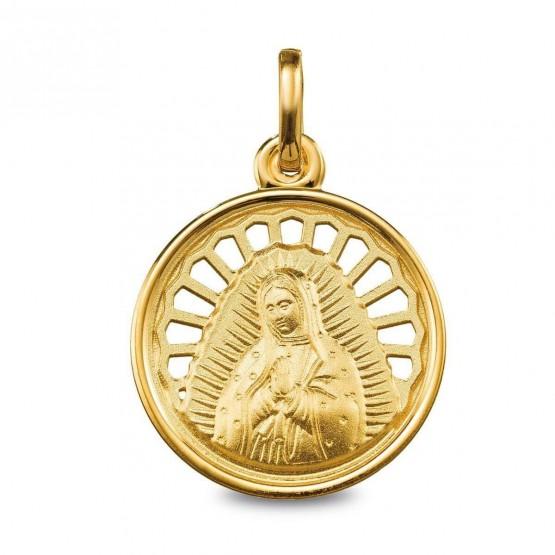 Medalla de oro Virgen de Guadalupe calada (1280242)