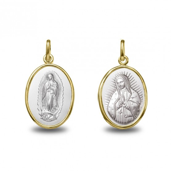 Medalla de oro bicolor V. Guadalupe oval 18 mm (1291619)