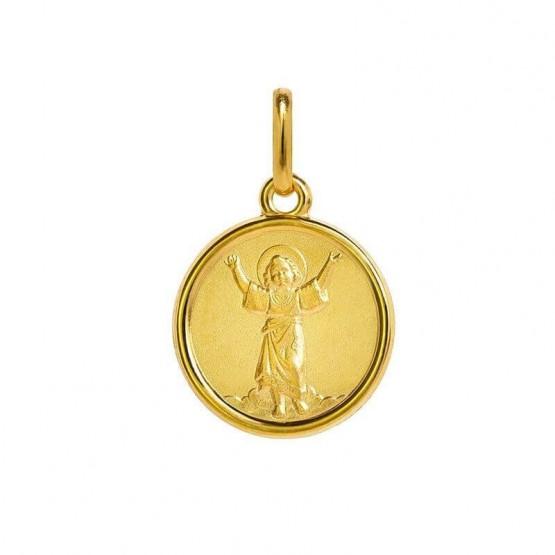Medalla de plata chapeada en oro Divino Niño Jesús (1260479D)