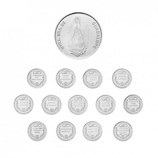 Arras matrimoniales de plata Guadalupe (8117)