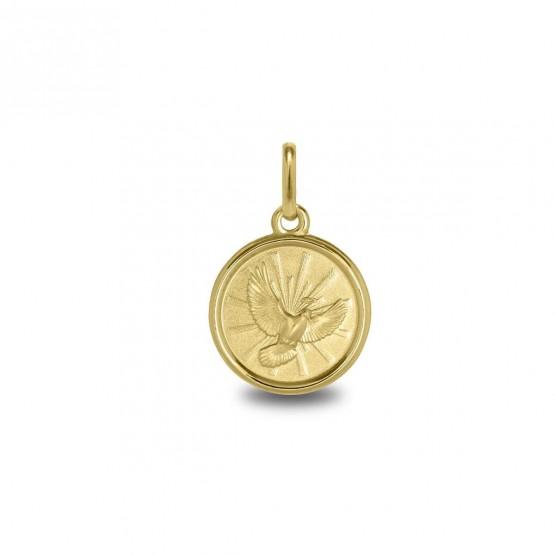 Medalla en oro 14k con la imagen del Espíritu Santo (1260476)