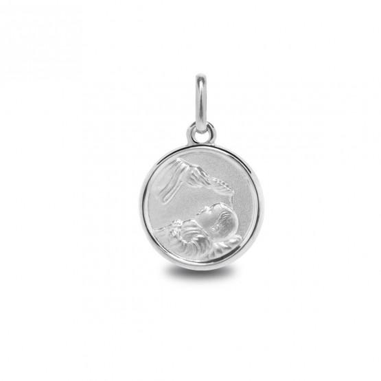 Medalla de plata imagen del bautismo (1260468)