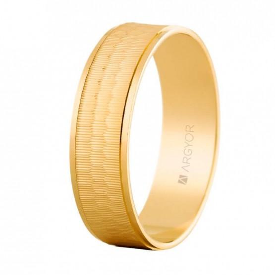 Anillo de bodas en oro con efecto tridimensional (5160303)