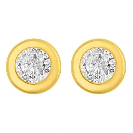 Aretes de oro 14k con zirconia (0129/0)
