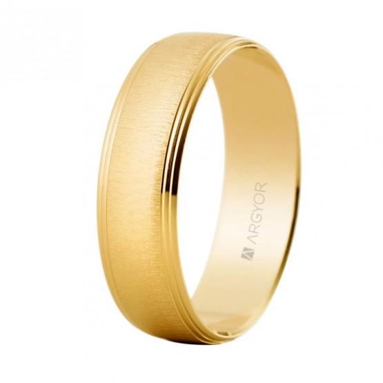 Anillo de boda texturizado de oro amarillo (5160466)