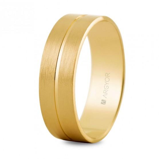 Argolla matrimonial plana en oro de 14k (5160494)