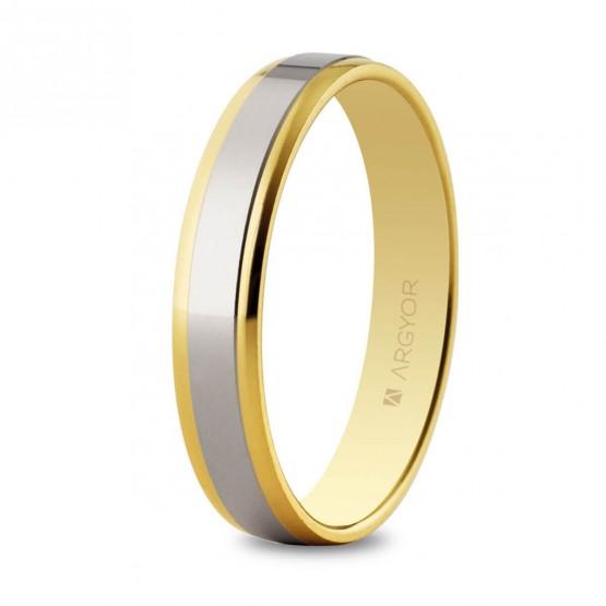 Anillo de bodas de oro bicolor brillo (5235158X)