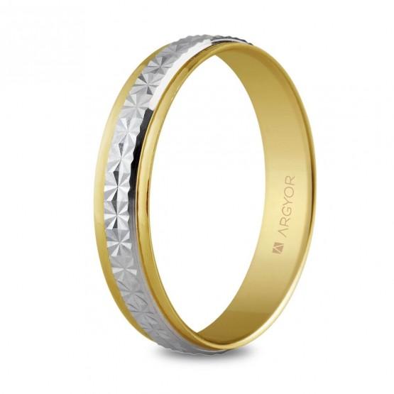 Anillo de bodas de oro bicolor (5240108)